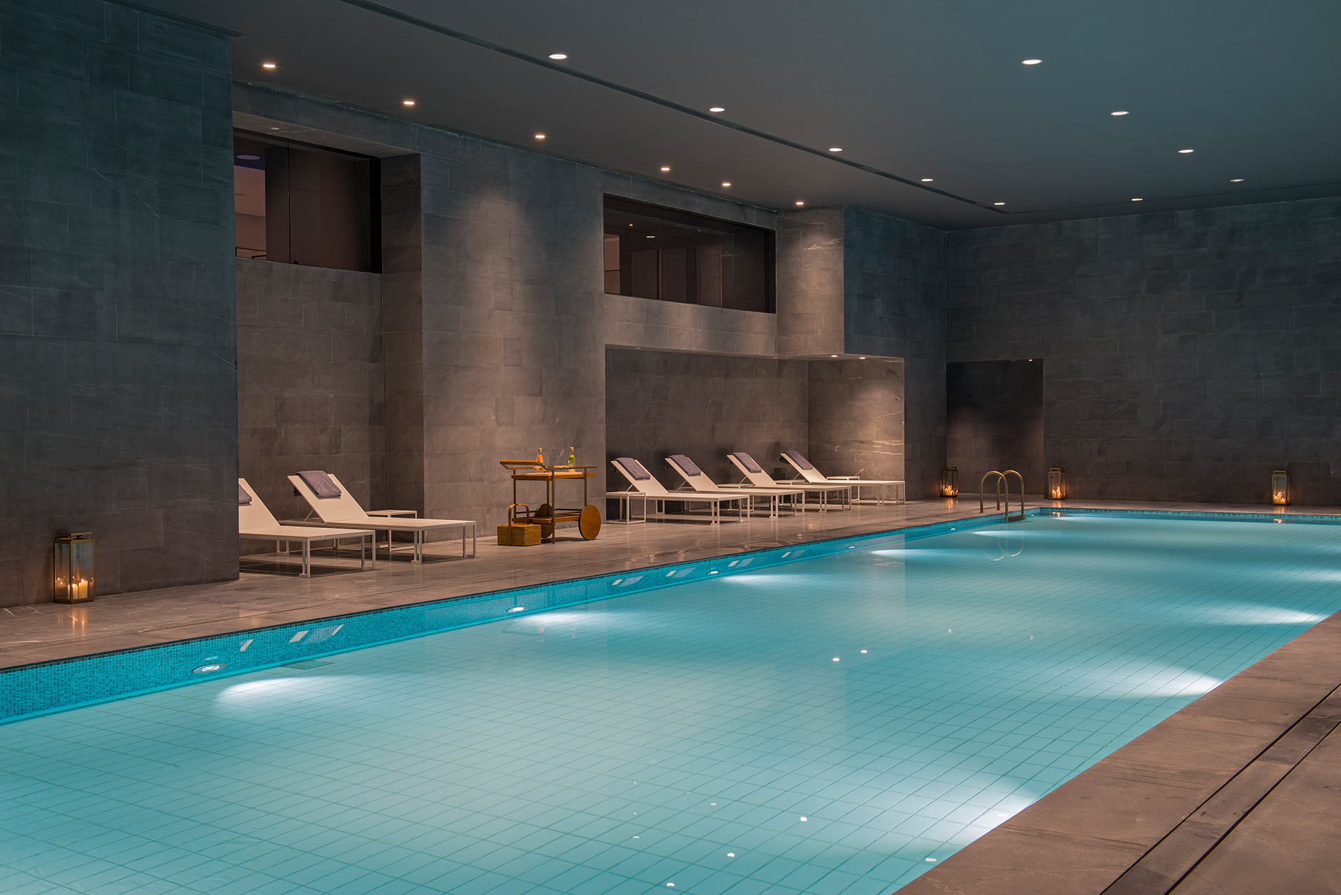 The Sukhothai Shanghai Pool an indoor mtr heated pool